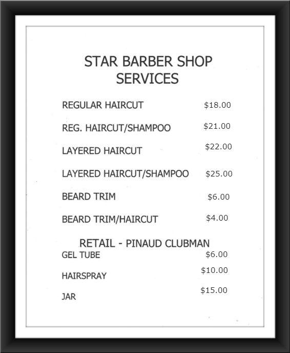 Price sheet template
